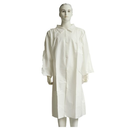 Great Utopian Sdn Bhd Non Woven Lab Coat Snap Button Velcro Zipper