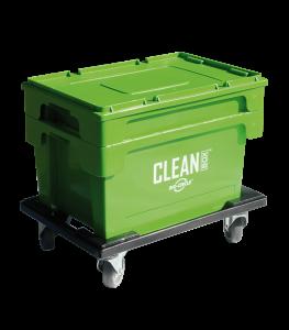 Great Utopian Sdn Bhd CLEAN BOX mit Deckel-Tauchkorb-Rollwagen-Bremsen